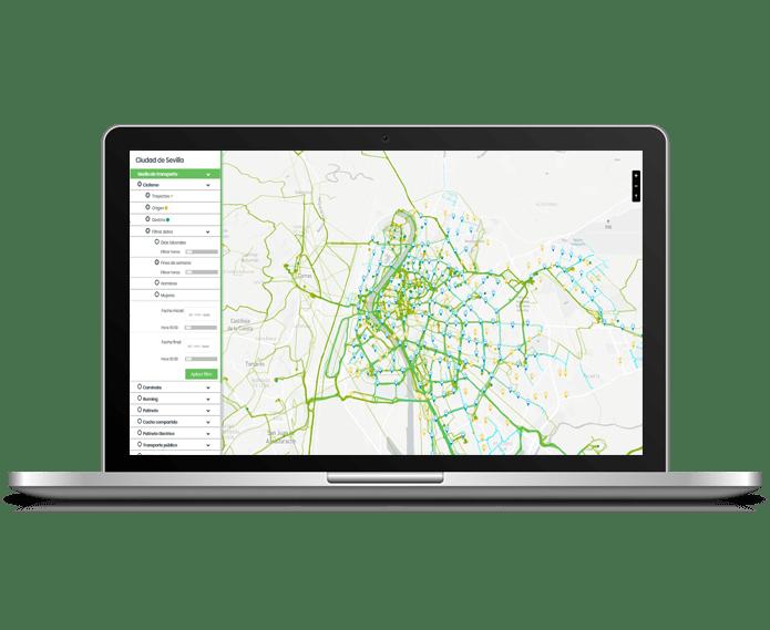 mapa de calor para estudios de movilidad urbana